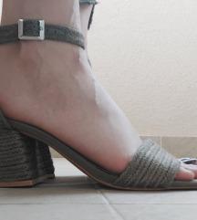 Nove maslinaste Pull&Bear sandale na petu