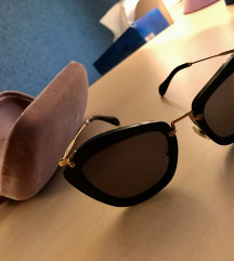 Miu Miu Sunčane Naočale (Crne, Zlatni Okvir)