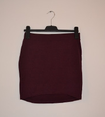 H&M bordo suknja, S