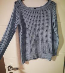 Esmara baby blue crochet pulover M