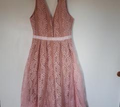 Nova čipkasta haljina M/L