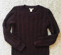 Kao nov H&m bordo pulover vel XS