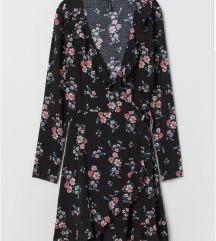 H&m wrap dress volani