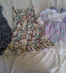 Lot 3 ljetne haljinice za curice 86/92