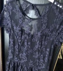 Mohito plava čipkana haljina