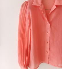Biserno roza vintage bluza, s