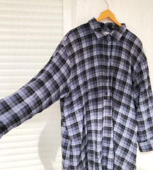 H&M plava karirana haljina- TRENUTNA KOLEKCIJA