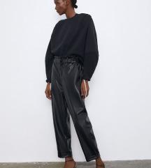 Zara kožne hlače L