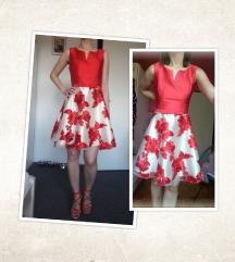 NOŠENO JEDNOM - Crvena haljina, vel. S (36)