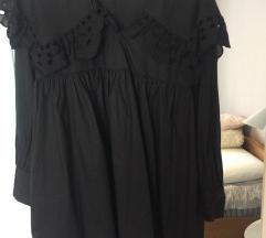 Zara crna izvezena haljina