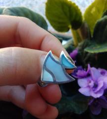 Novi srebrni prsten riba, 925