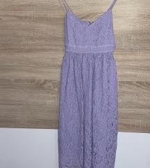 Lila čipkasta haljina