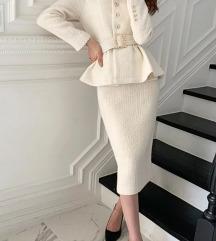Bijeli sako i suknja