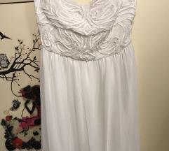 Zara bijela haljina L