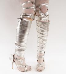 Srebrne gladijator sandale