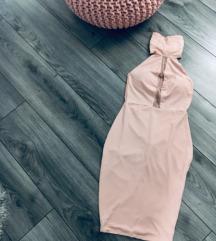 Roza kratka haljina golih leđa - uključena pt