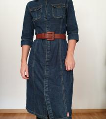 Klasična jeans haljina