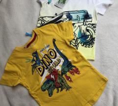 Dvije kratke majice za dječaka NOVO