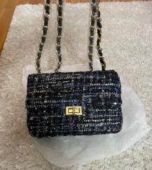 Tvid torbica vintage nova