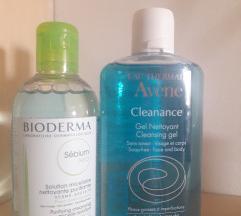Micelerna Bioderma i Avene gel za ciscenje