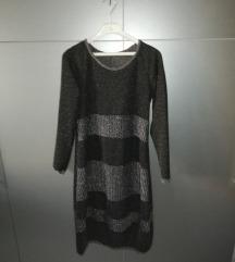 Sivosrebrna haljina