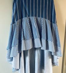 STRADIVARIUS duga asimetrična suknja od poplena