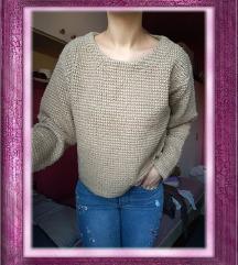 Smeđi pulover/džemper, vel. S (36)