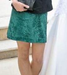 Plišana zelena haljina, XS
