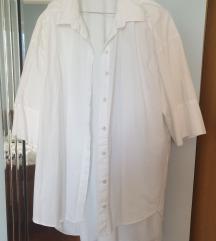 zara oversized bijela košulja