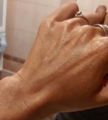Prirodne šljokice za lice i tijelo-zlatni sjaj
