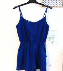 H&M plavi kombinezon (S)