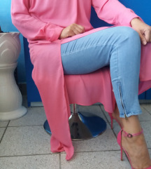 roza H&M haljina