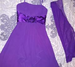 Ljubičasta haljina xs/s
