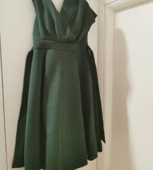 ASOS scuba midi zelena haljina