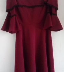Bordo crvena svečana haljina
