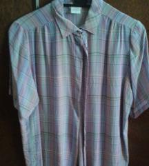 Bluza 100% svila - plavkasto/zelenkasto/roskasto