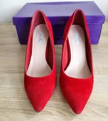 Vanilla crvene cipele na petu (7,5 cm)/SNIZENO