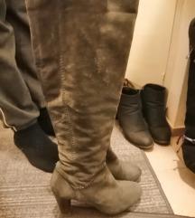 sive visoke kožne čizme