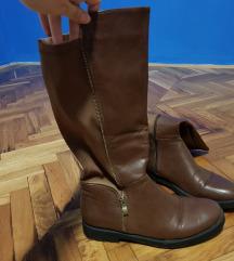 Smeđe visoke čizme