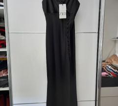 Zara satenska haljina s etiketom