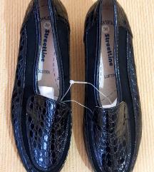 Streetline ženske crne kožne cipele (nenošeno)
