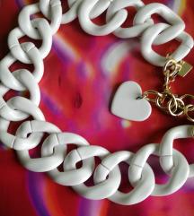 Rezz.Coccinelle bijeli lanac ogrlica