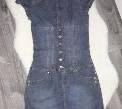 Kratka traper haljina