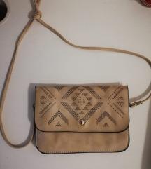 Smeđa kožna torbica