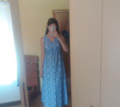 Duga plavo bijela haljina S/M