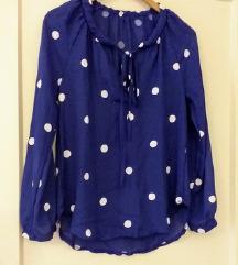 Modra bluza /kosulja na tocke