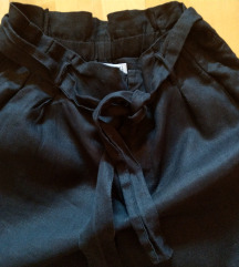 Mango crne lanene hlače