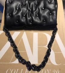 Nova zara prošivena torba kožna crna