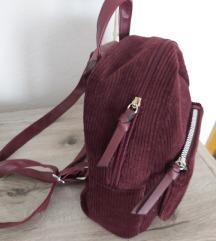New Look bordo ruksak od samta