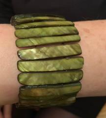 Narukvica sedefne školjke zelena